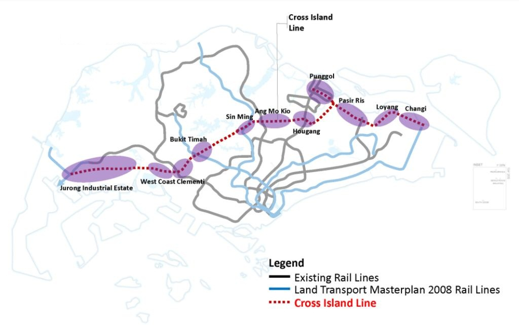 Cross Island Line Map