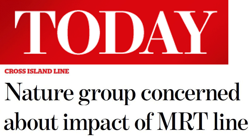 Today 2013 - Nature group concerned about impact of MRT Line