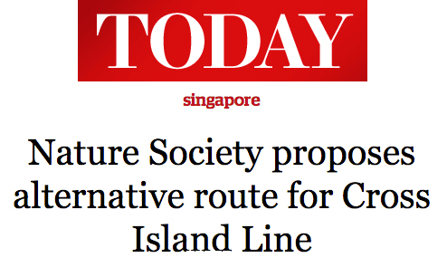 Today 2013 - Nature Society proposes alternative route for cross island line