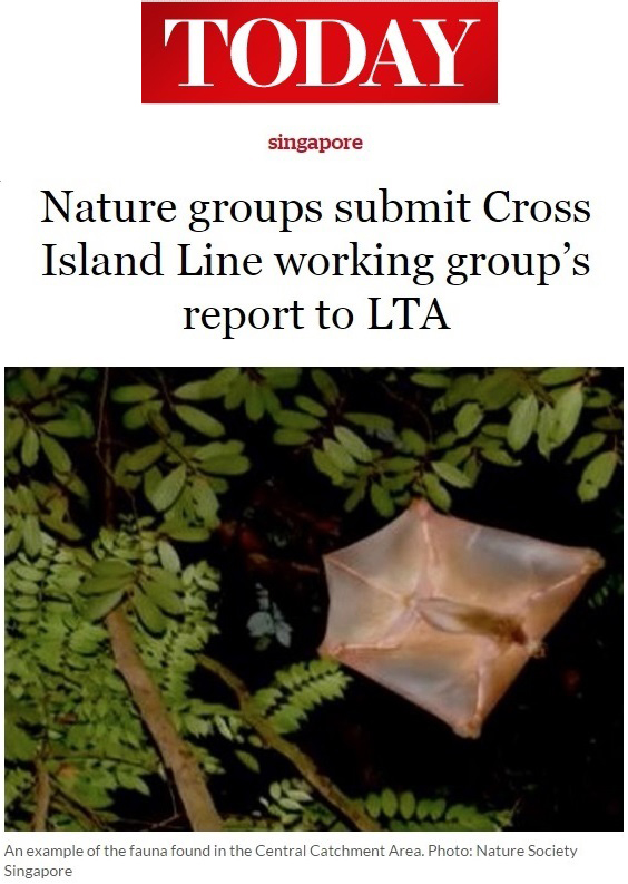 Today 2014 - Nature groups submit Cross Island Line working group's report to LTA