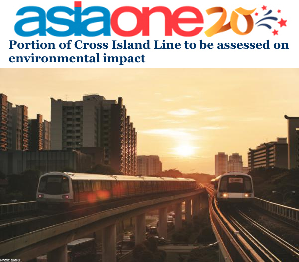 Asiaone 2014 - Portion of Cross Island Line to be assessed on environmental impact