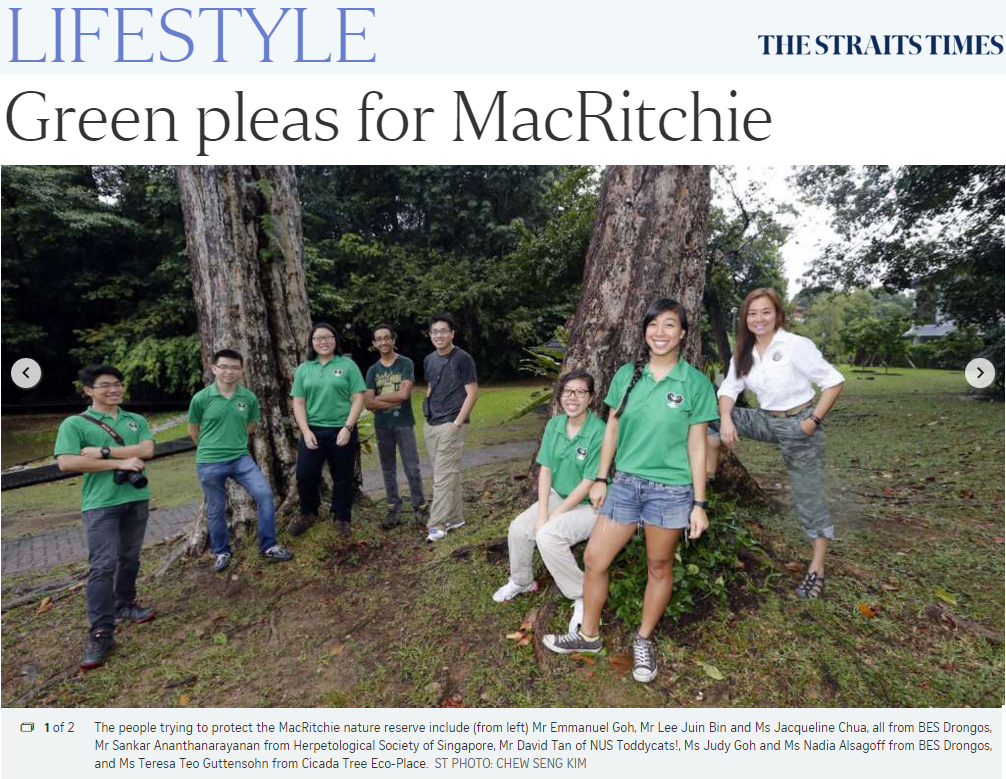 The Straits Times 2016 - Green pleas for MacRitchie