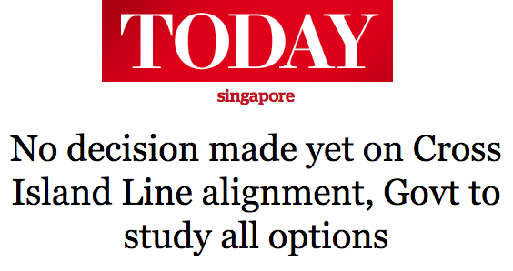 Today 2016 - No decision made yet on Cross Island Line alignment, Govt to study all options