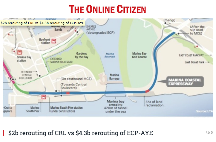 The OnLine Citizen 2016 - $2b rerouting of CRL vs $4.3b rerouting of ECP-AYE