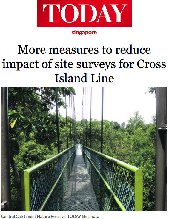 TODAY News 2016 - More measures to reduce impact of site surveys for Cross Island Line